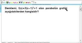 Parabolün Grafiğinin Çizimi ve Doğru ile Parabolün ve İki Parabolün Durumları 9 izle