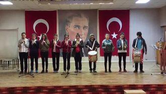 Beşikdüzü Şehit Öğretmen Gürhan Yardım Ortaokulu 12 Mart 2017  İstiklal Marşın�... izle