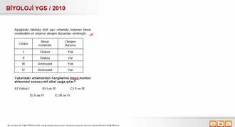 2010 YGS Biyoloji Etil Alkol Fermantasyonu izle