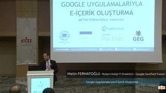 FATİH ETZ 2016: Metin FERHATOĞLU - Robert Koleji IT Direktörü - Google Certified Train... izle