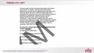 Paragrafın Anlatımı (LYS 2017- TÜRK D,Lİ VE EDEBİYATI) izle