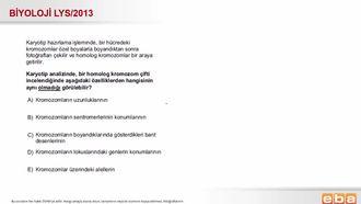 2013 LYS Biyoloji Karyotip Analizi izle
