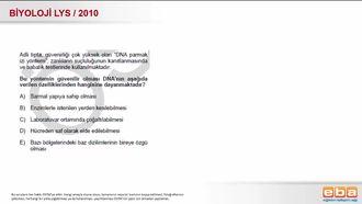 2010 LYS Biyoloji DNA parmak izi izle