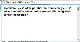 Parabolün Grafiğinin Çizimi ve Doğru ile Parabolün ve İki Parabolün Durumları 19 izle