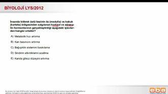 2012 LYS Biyoloji Endokrin Ssistem izle