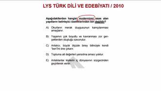 2010 LYS TÜRK DİLİ VE EDEBİYATI / EDEBÎ AKIMLAR izle