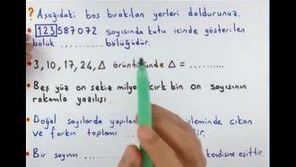 5. Sınıf Matematik 1. Dönem 1. Yazılı Hazırlık izle