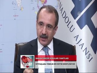 Milli Eğitim Bakanı Sayın Ömer Dinçer, Konuk Olduğu Anadolu Ajansı'nda Editörlerin... izle