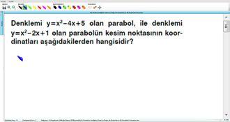 Parabolün Grafiğinin Çizimi Ve Doğru İle Parabolün Ve İki Parabolün Durumları 20 ... izle