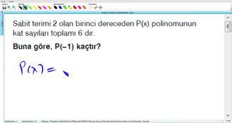 Polinomun Tanımı Ve Temel Kavramları - Kurs - 6 izle