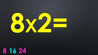 Ritmik Sayılar ile Çarpım Tablosu - 8 ile Çarpma İşlemi izle