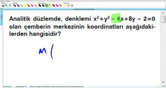 Çemberin Genel ve Parametrik Denklemleri 2 izle