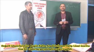 Kahta Anadolu Lisesi Arapça Tanıtım Röportaj izle