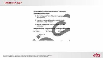 İlk Türk Devletlerinde Bilim ve Sanat (2017 LYS -TARİH) izle
