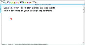 Parabolün Tanımı ve Tepe Noktası ile Eksenleri Kestiği Noktalar 22 izle