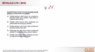 2010 LYS Biyoloji Kalıtım - Eşeye Bağlı Kalıtım izle