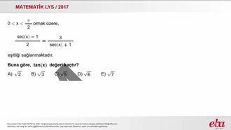 Trigonometrik Fonksiyonlar (2017 LYS MATEMATİK) izle