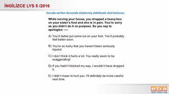 2016 LYS 5 - Durum sorusu izle
