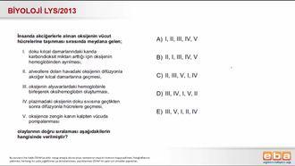 2013 LYS Biyoloji Solunum Sistemi izle