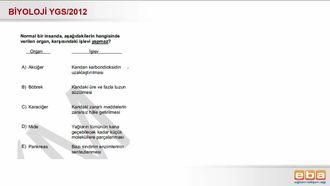 2012 YGS Biyoloji Organ ve Görevleri izle