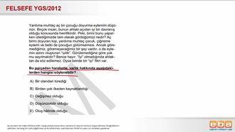 2012 YGS Düşünülen Varlık izle