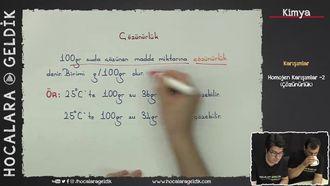 Homojen Karışımlar -2 (Çözünürlük) izle