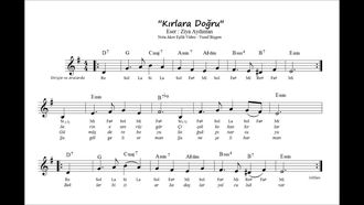 Nota Akor Eşlik - Kırlara Doğru Mi minör ( Melodika ) izle
