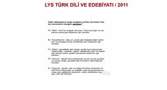 2011/LYS TÜRK HALK ŞİİRİ BİLGİSİ izle