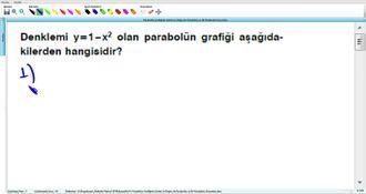 Parabolün Grafiğinin Çizimi ve Doğru ile Parabolün ve İki Parabolün Durumları 3 izle