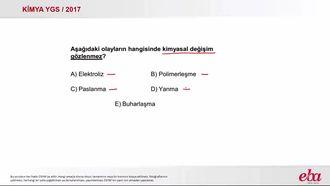 Kimyasal Değişim (2017 YGS-Kimya) izle