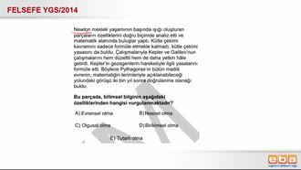 2014 YGS Felsefe Bilimsel Bilginin Özellikleri izle
