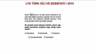 2010 LYS TÜRK DİLİ VE DEBİYATI / EDEBÎ AKIMLAR izle