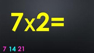 Ritmik Sayılar ve Çarpım Tablosu - 7 ile Çarpma izle