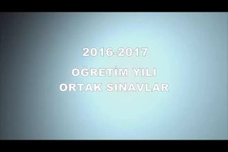 2016-2017 Merkezi Sistem Ortak Sınavlar izle