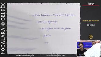 101 Soruda YGS Tarih 10.Bölüm izle
