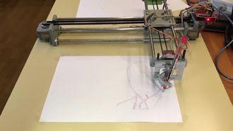 4xidraw çizim cihazı çizim örneği izle