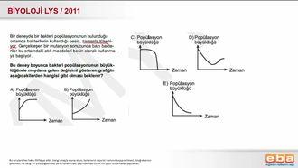 2011 LYS Biyoloji Bakteri Popülasyonları izle