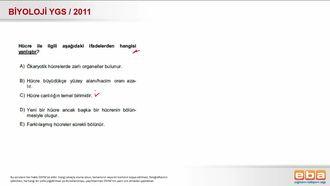 2011 YGS Biyoloji Hücre izle