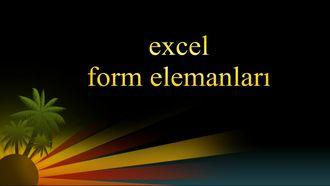 excel form komutlarını kullanma izle