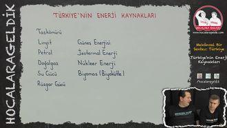 Türkiye'nin Enerji Kaynakları izle