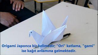Origami - Kağıt Kuş Yapımı izle