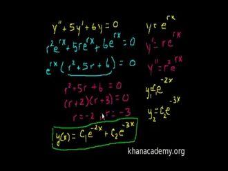 İkinci Dereceden Doğrusal Homojen Diferansiyel Denklemler 3 izle