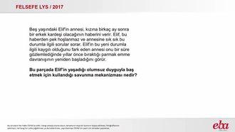 Savunma Mekanizması( 2017 LYS- FELSEFE) izle