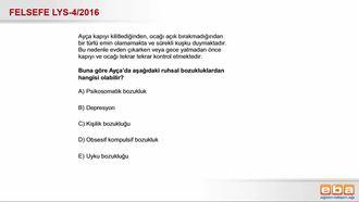 2016-LYS4 Felsefe Grubu Normal Dışı Davranış Türleri izle