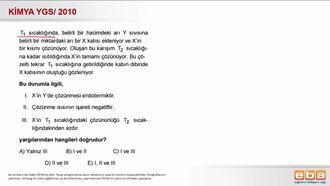 2010 YGS- Çözünürlük- Sıcaklık İlişkisi izle