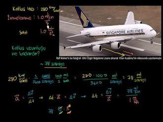 Airbus A380'in Kalkış Mesafesi izle