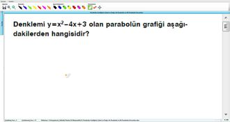 Parabolün Grafiğinin Çizimi ve Doğru ile Parabolün ve İki Parabolün Durumları 5 izle
