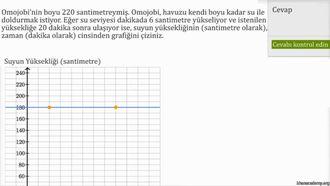 Doğrusal Fonksiyonların Grafiğini Çizmek: Örnek 2 izle