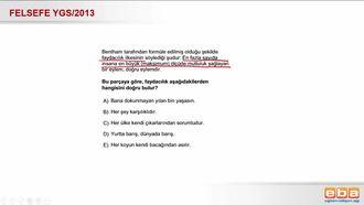 2013 YGS  Bentham'ın Faydacılık Anlayışı izle