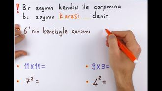 5. Sınıf Matematik Bir Sayının Karesi ve Küpü izle